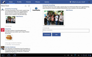 Facebook para tablets con Android Honeycomb