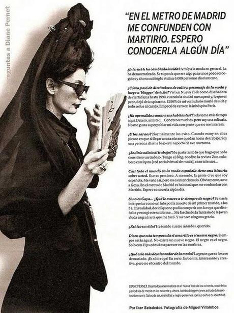 Diane Pernet & Martirio Spain Idol.