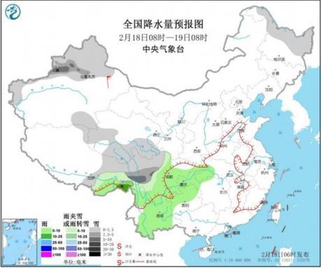 王者体育app-  在新疆北部和青藏高原,西北部的一些地区有降雪和沙尘袭击。。