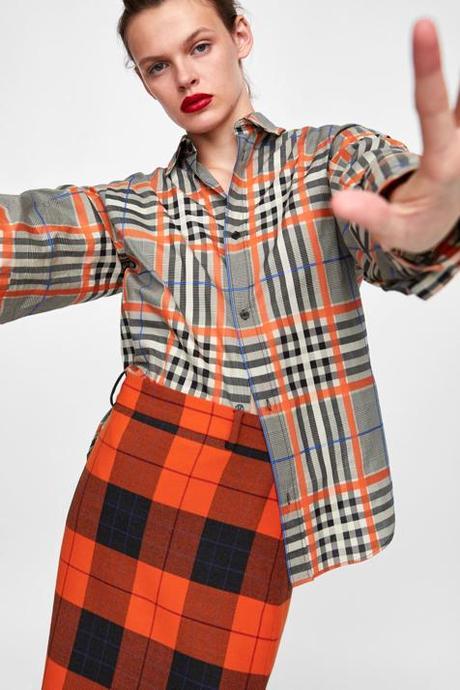 Falda Lapiz Cuadros Escoceses