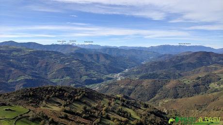 Vista hacia Ubiñas y Sierra del Aramo desde el Pico Formoso