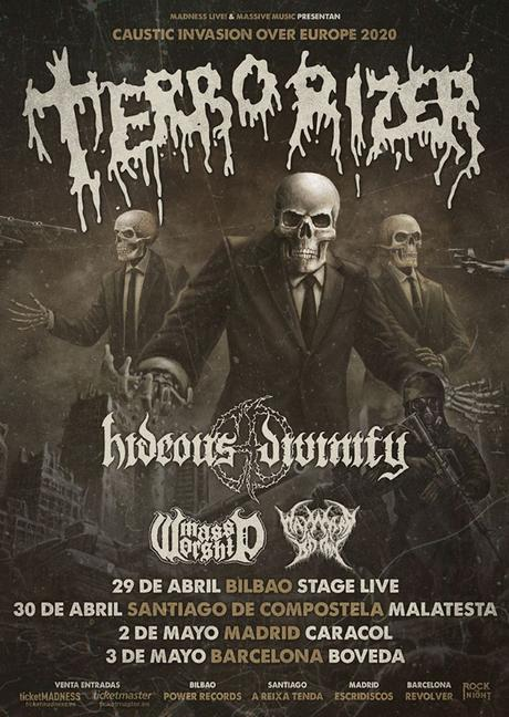 "TERRORIZER anuncia nuevas fechas para la gira ""Caustic Invasion Over Europe"""