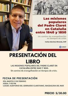 """""""Las Misiones Populares del P. Claret en Cataluña entre 1840 y 1850"""". P. Carlos Sánchez Miranda"""