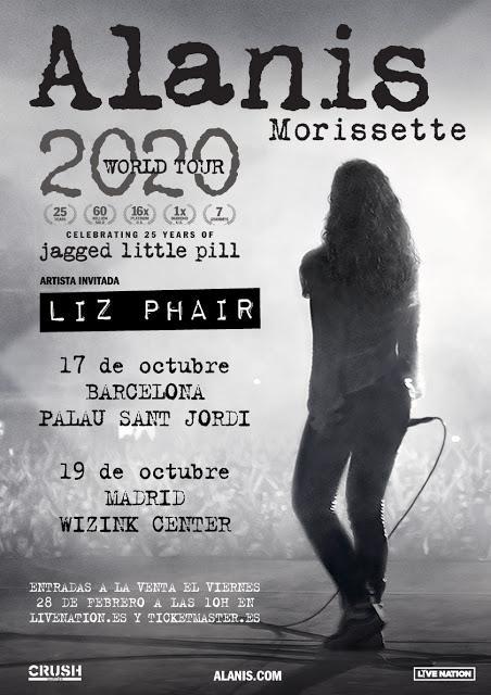 Conciertos de Alanis Morissette en Palau Sant Jordi y WiZink Center por los 25 años de 'Jagged Little Pill'