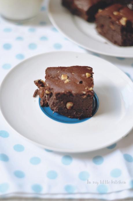 Asaltablogs- Brownie sin harina y sin azúcar
