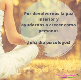 frase felicitacion psicologo