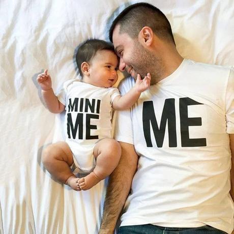 Regalo para el día del padre: camiseta + body de bebé