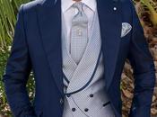 Traje novio azul semilevita moderno corte italiano slimfit medida