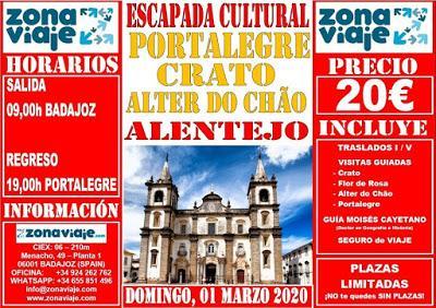 ALTER DO CHÃO, CRATO Y PORTALEGRE La ciudad de Portalegre...
