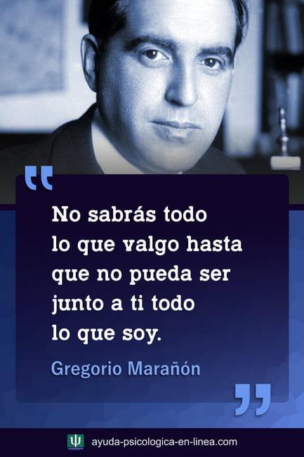 Frase de Gregorio Marañón