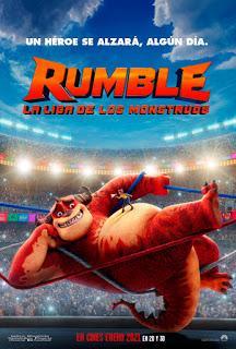 RUMBLE, LA LIGA DE LOS MONSTRUOS - Lanzamiento primera imagen, póster y tráiler