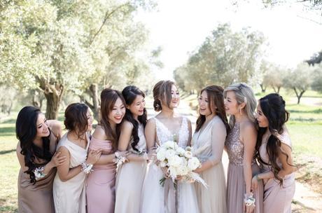 Bridesmaids destination wedding Damas de honor