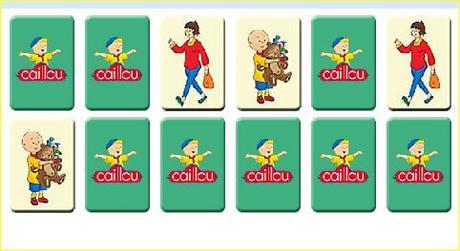 7 juegos interactivos de Caillou