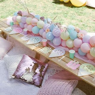 Haz espectaculares Caminos de mesa con globos