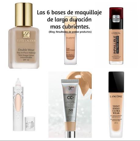 6 bases de maquillaje de alta cobertura