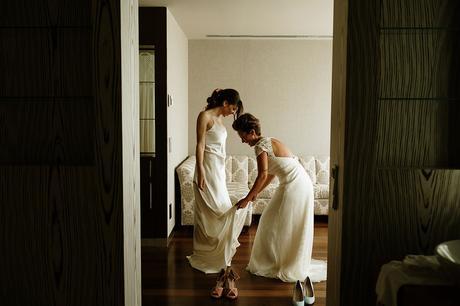 Boda boho chic dos novias | vestido novias otadui | Bodas de Cuento