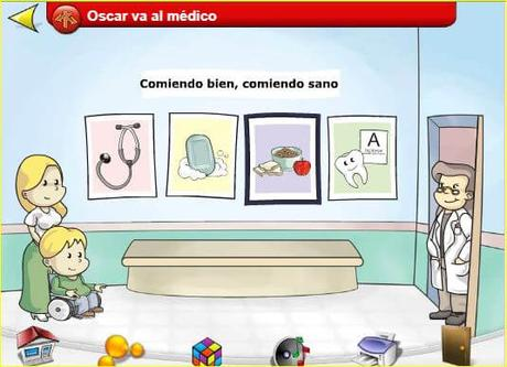 Óscar va al médico. La salud y el cuidado de uno mismo.