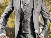 Chaqué gris perla lana seda corte entallado italiano