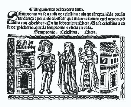 Sempronio, Celestina y Elicia