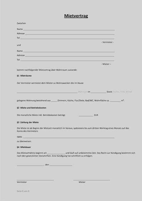 Mietvertrag Muster Download Freeware De