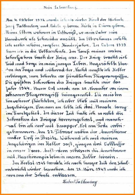 Frisch Handschriftlicher Lebenslauf Muster 0 4
