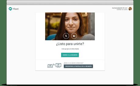 Videoconferencias con Google Hangout Meet