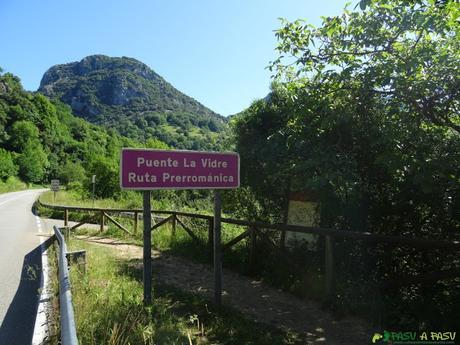 Carretera en Puente la Vidre, Peñamellera Alta