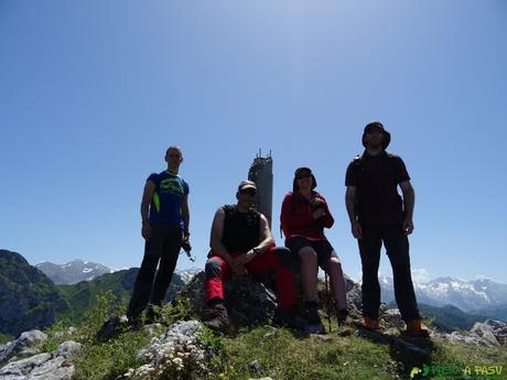 Grupo en la cima de Cabeza Vigueras