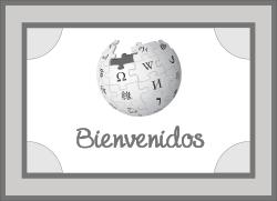 Alfombra Bienvenida Wikipedia.svg