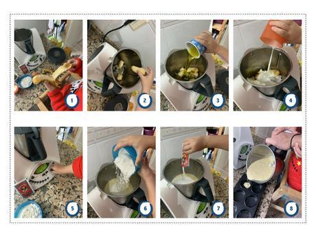 como hacer muffins con niños