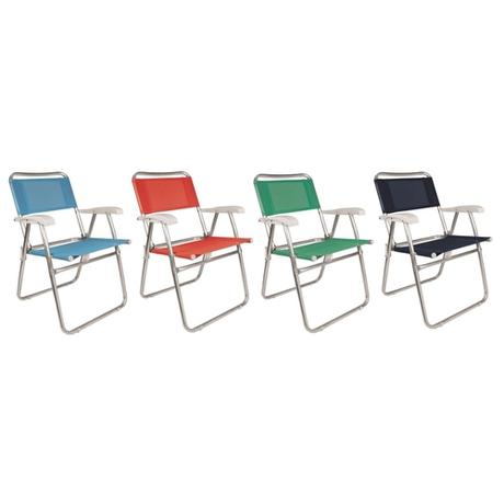 Cadeira De Praia Aluminio Taqi