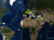 Mapa todos eventos Tierra pueden causar desastres emergencias