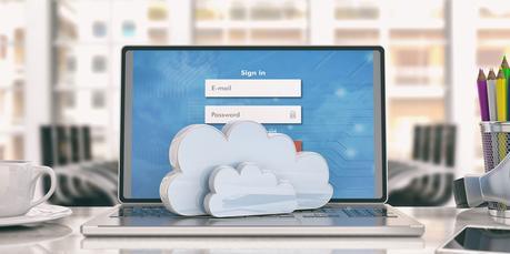 Portátil cloud nube