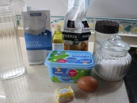 Los ingredientes necesarios para hacer los Donuts con Thermomix