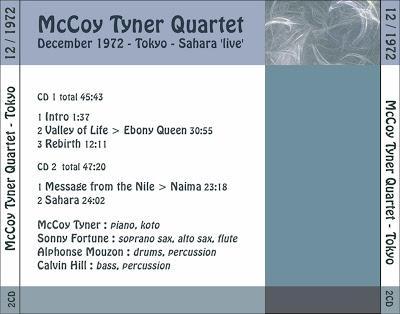 McCOY TYNER: McCoy Tyner Quartet, Sahara Live Tokyo 1972