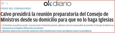 ¿Retrasó Pedro Sánchez publicar el positivo de Carmen Calvo para que Pablo Iglesias no sea presidente.?