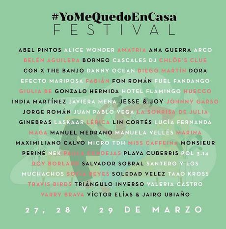 Horarios del tercer #YoMeQuedoEnCasa Festival