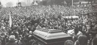 El entierro de Luciano Re Ceconni fue multitudinario.