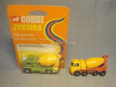Camiones cementeros de Corgi y Matchbox