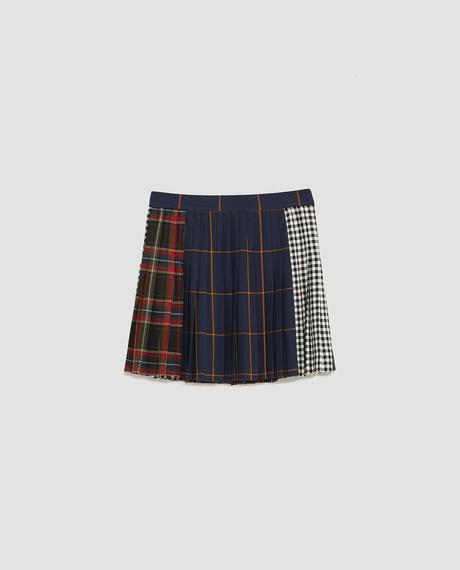 Falda Larga Escocesa Zara