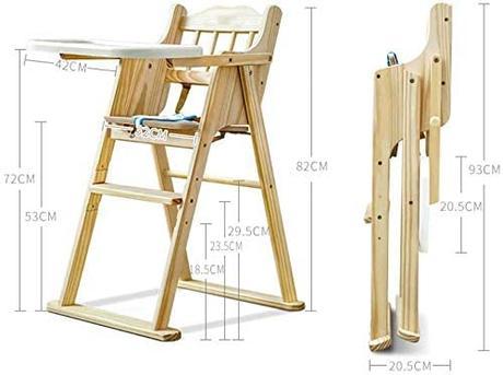 trona de madera plegable para viaje