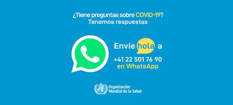 La OMS lleva la información de la COVID-19 a millones a través de WhatsApp, ahora en español