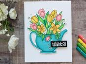 Floral Card with Print