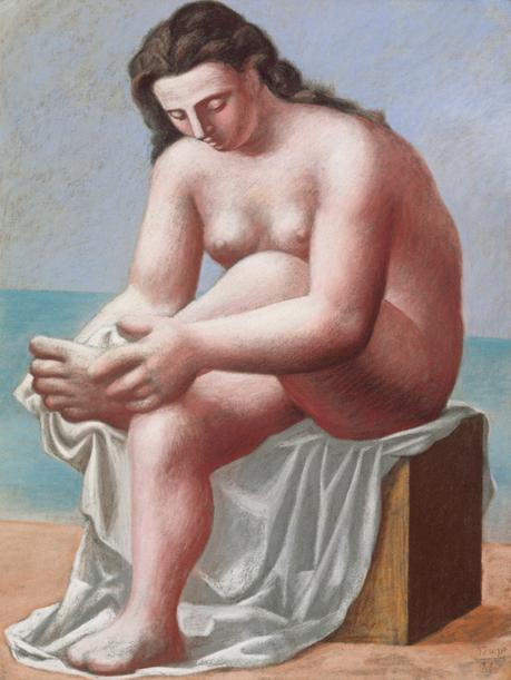 Pablo Picasso 1921 Nu assis sessuyant le pied Seated Nude Drying her Foot pastel 66 x 50.8 cm Berggruen Museum
