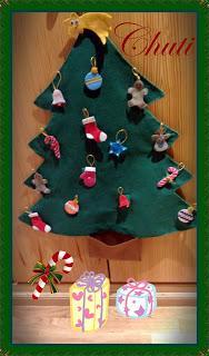 Casita y árbol de navidad