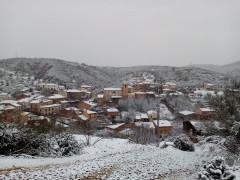 Nevada primaveral en Puebla de Valles