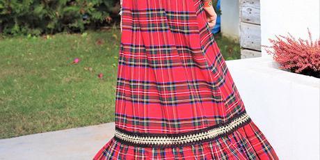 Falda Larga Cuadros Escoceses