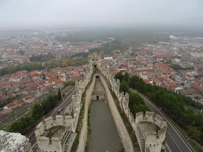 Vista aérea de una parte del Castillo