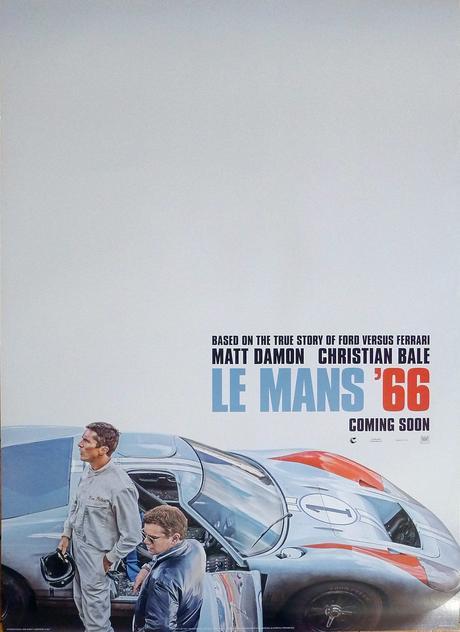 Le Mans 66 European Teaser Poster 2019 Ford V. Ferrari Original ...
