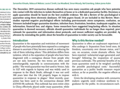 impacto psicológico cuarentena cómo reducirlo: revisión evidencia